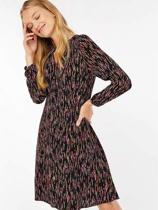 Monsoon Enid Print Dress - Multi