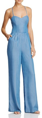 Lovers and Friends Anna Chambray Jumpsuit $158 thestylecure.com