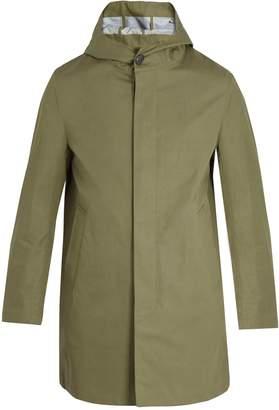 MACKINTOSH Hooded cotton overcoat