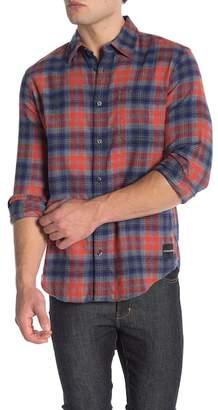 Calvin Klein Front Button Plaid Flannel