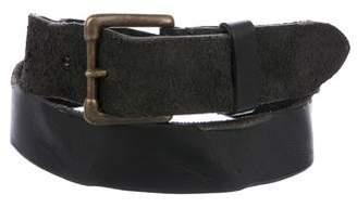 Pas De Calais Leather Buckle Belt