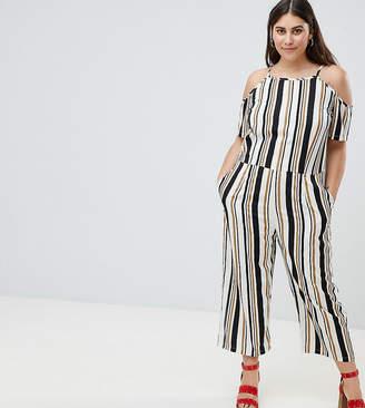 AX Paris Plus Stripe Jumpsuit