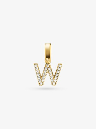 Michael Kors 14K Gold-Plated Sterling Silver Pave Alphabet Charm