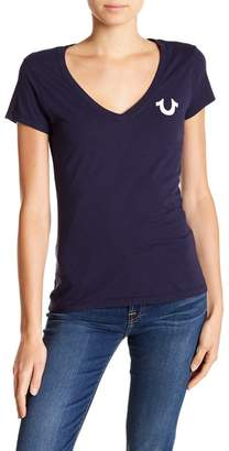 True Religion Deep V-Neck Short Sleeve Shirt