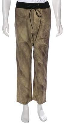 Antonio Barragan Cropped Drop-Crotch Leather Pants