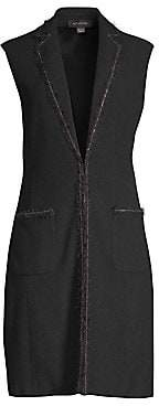 St. John Women's Boucle Stretch Wool Knit Vest