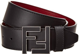 Fendi Logo Reversible Leather Belt