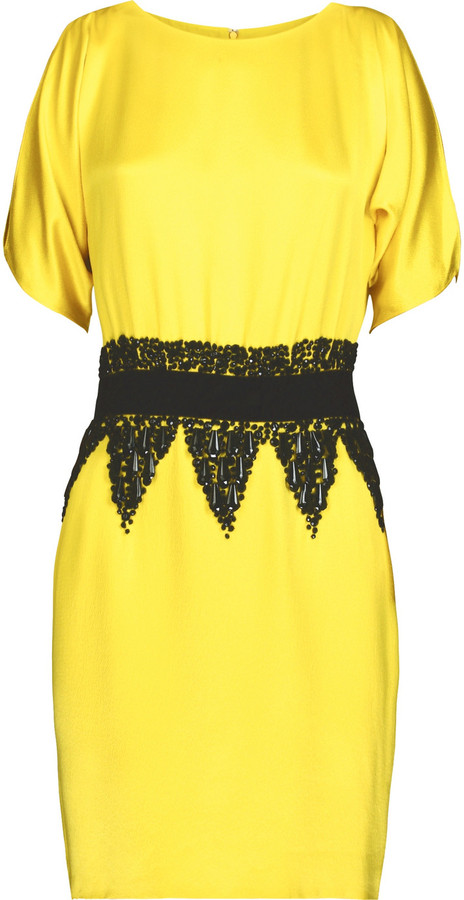 Tibi Silk beaded dress