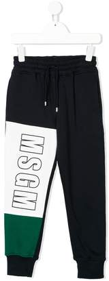 MSGM logo print track pants