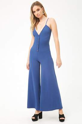 Forever 21 Button-Front Palazzo Jumpsuit