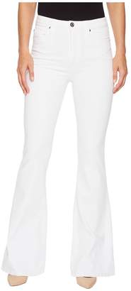Hudson Holly High-Rise Five-Pocket Flare Jeans in Optical White Women's Jeans