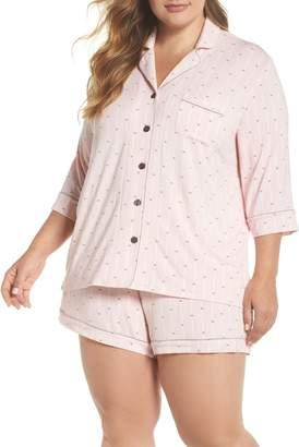 PJ Salvage Modal Three-Quarter Sleeve Short Pajamas (Plus Size)