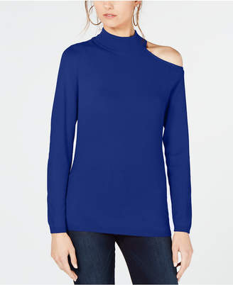 INC International Concepts I.n.c. One Shoulder Mock Turtleneck Sweater, Created for Macy's