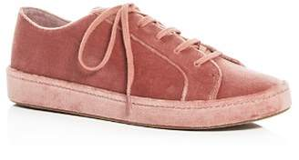 Joie Women's Daryl Velvet Lace Up Sneakers