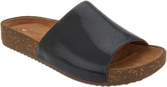 Clarks Embossed Leather Slides Rosilla Hollis