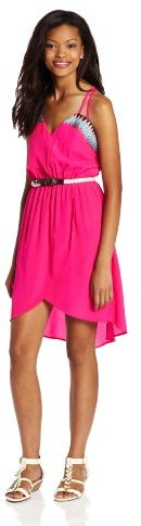 My Michelle Sequin Hearts by Juniors 32/40 Inch Double Strap T Back Dress