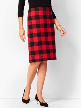 Talbots Buffalo-Check Pencil Skirt