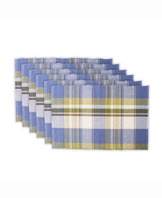 Design Import Lake House Plaid Ribbed Placemat Set of 6