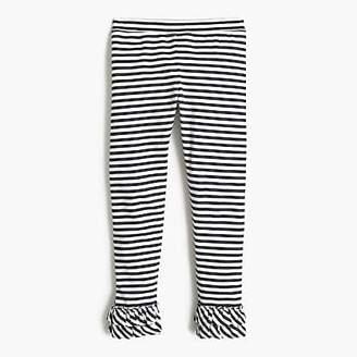 J.Crew Girls' striped everyday leggings with ruffles