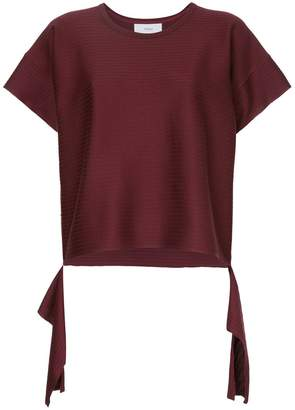 ASTRAET cut away hem T-shirt