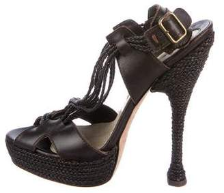 Brian Atwood Woven Caged Sandals