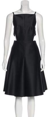 SOLACE London Ava Knee-Length Open Back Dress