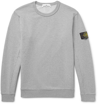 Stone Island Loopback Cotton-Jersey Sweatshirt $180 thestylecure.com