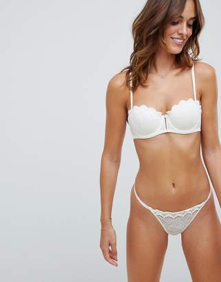 Heidi Klum Intimates lace thong in white