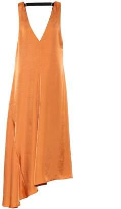 Tibi Mendini satin midi dress