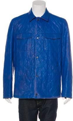 Kiton Quilted Leather Jacket