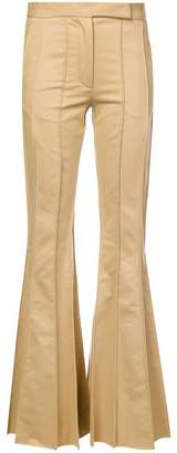 Rosie Assoulin vertical stitching bootcut trousers