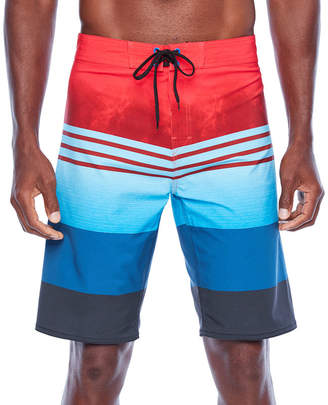 403a23d00e8ff Burnside Bolt Striped Board Shorts