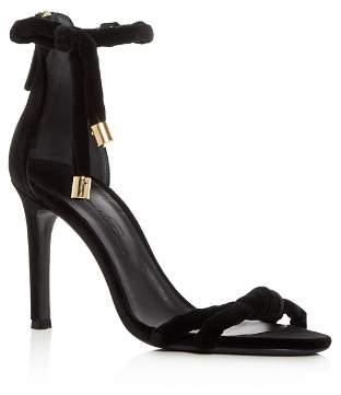 Oscar de la Renta Women's Mila Velvet Ankle Tie High-Heel Sandals