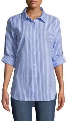 Calvin Klein Banker Stripe Cotton Button-Down Shirt