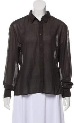 Calvin Klein Long Sleeve Button-Up