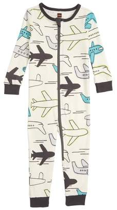 Tea Collection Print Fitted One-Piece Pajamas