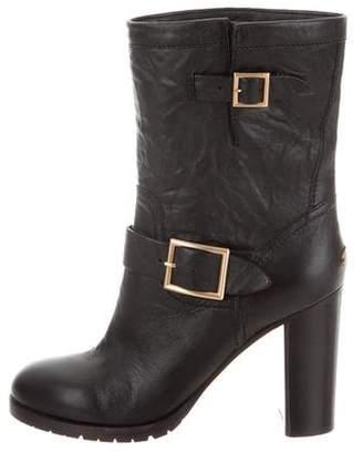 Jimmy Choo Mid-Calf Buckle Boots
