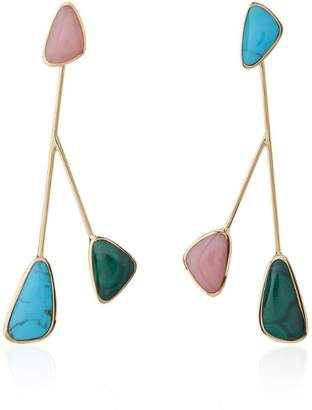 Pamela Love Pillar Inlay Satellite Earrings