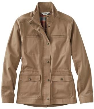 L.L. Bean L.L.Bean Women's Classic Utility Jacket, Flannel-Lined