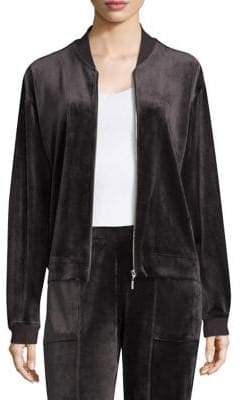 Natori Zip Bar Velour Jacket
