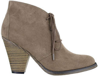 MIA GIRL Mia Girl Womens Shawna Booties Stacked Heel Lace-up