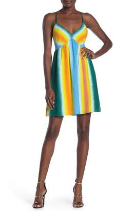 BCBGeneration Sleeveless Crossback Printed Dress