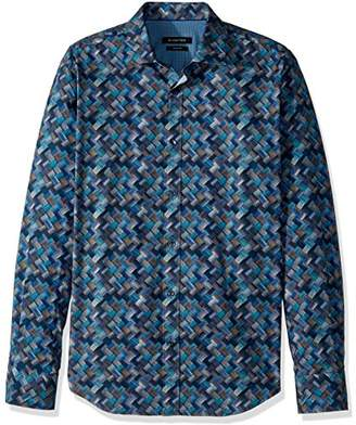 Bugatchi Men's Cotton Tapered Fit Long Sleeve Shirt
