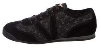 Louis Vuitton 2017 Monogram Denim Low-Top Sneakers