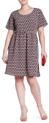 Glamorous Lipstick Print Dress (Plus Size)