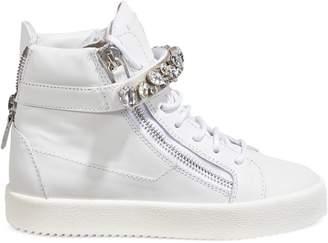 Giuseppe Zanotti Crystal Wedge Platform Sneakers