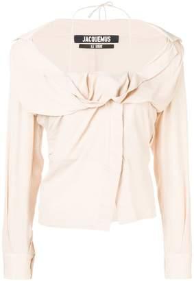Jacquemus longsleeved halterneck blouse