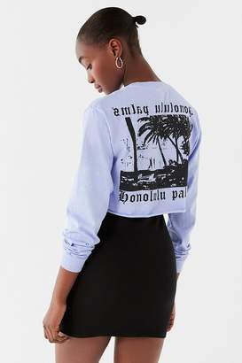Urban Outfitters Honolulu Cropped Long Sleeve Tee