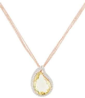 Rina Limor Fine Jewelry Quartz & Topaz Pendant Necklace