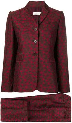Romeo Gigli PRE-OWNED jacquard flowers two-piece suit